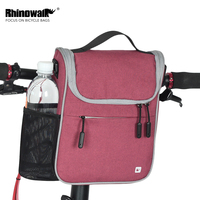 Rhinowalk Multifunction Handlebar Bag 5L Large Capacity MTB Road Bike Front Tube Bag Cycling Shoulder Bag with Waterproof Cover