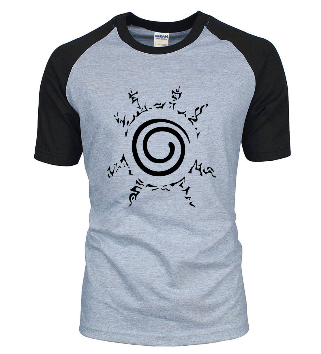 New Arrival Anime Naruto Uzumaki Naruto t shirt 2019 summer 100% cotton raglan men t-shirt fashion short sleeve shirt for fans