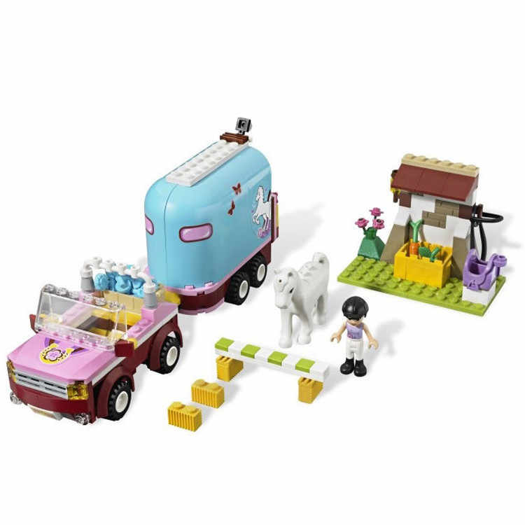 BELA 10161 Friend Emma's Horse Farm Trailer Building Blocks Set Girls Toys Compatible Friends 3186 for Girl