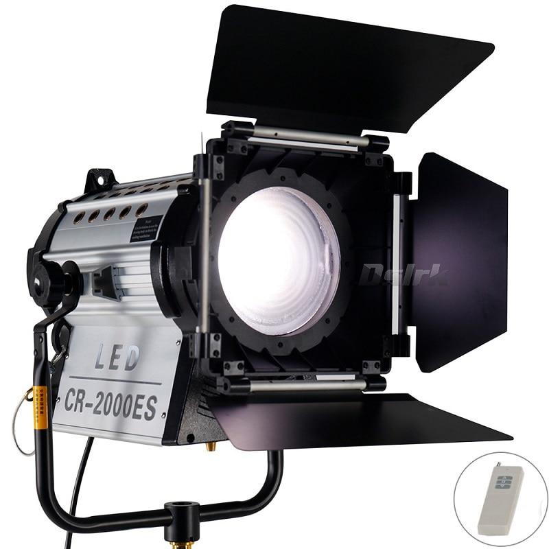 Photography 200W LED Fresnel Spotlight with Wireless Remote Control Dimmer HMI Par Light Bi color with Filter Studio V mount