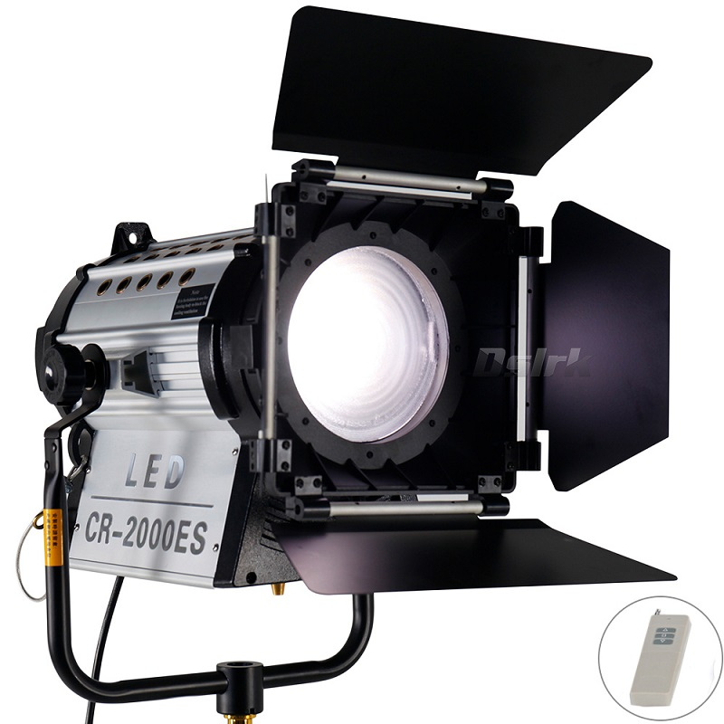 Wireless Remote Control 12000 Lux Electric Focus Dimmable Bi-color 200W LED Fresnel Spotlight 3200-5500K HMI Par Light