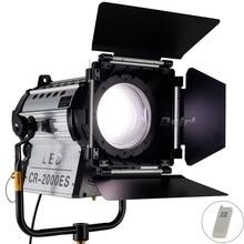 Wireless Remote Control 12000 Lux Electric Focus Dimmable Bi-color 200W LED Fresnel Spotlight 3200-5500K HMI Par Light