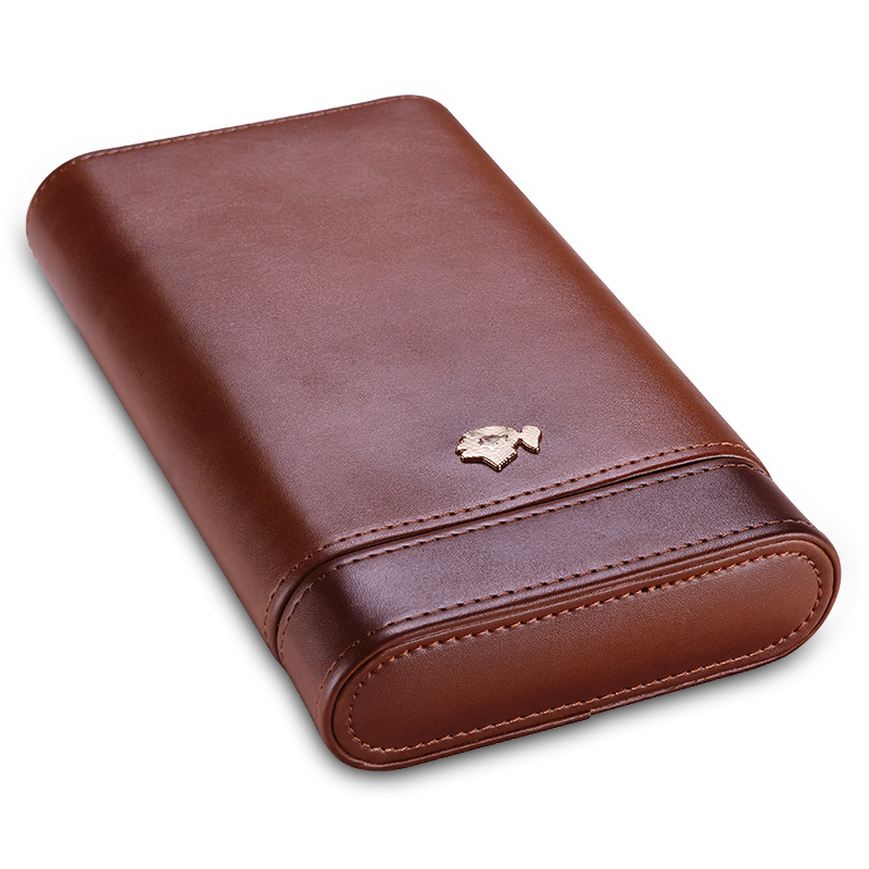 Cigar case portable cow leather cedar wood cigar moisturizing case cigar holster CF 0413 0416