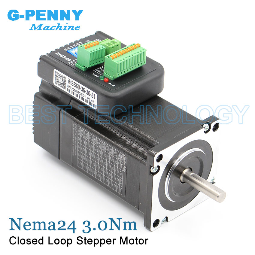 New Arrival! 3.0Nm Closed Loop Stepper motor with driver 5.0A 428Oz-in 36v D=8mm Integrated Stepper-Servo Motor & drive 60x85mm nema23 2nm 283oz in integrated closed loop stepper motor with driver 36vdc jmc ihss57 36 20