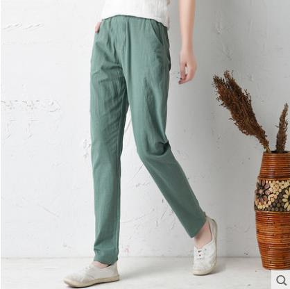 2019 New Design Ankle-length Pants For Loose Cotton Linen Women Pants Streatwear Harempants Trousers Plaid Pantalones Verano Bottoms Women's Clothing