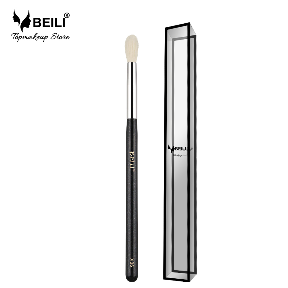 BEILI X06 Hitam Eye Shadow Tampered blending Concealer Kambing Rambut Makeup Brushes Alami