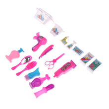 1Set Dollhouse Furniture Accessories For Doll Hair Dryer Makeup Set Funny  Toys Mini Doll Kitchen Cleaning a443f64d8028