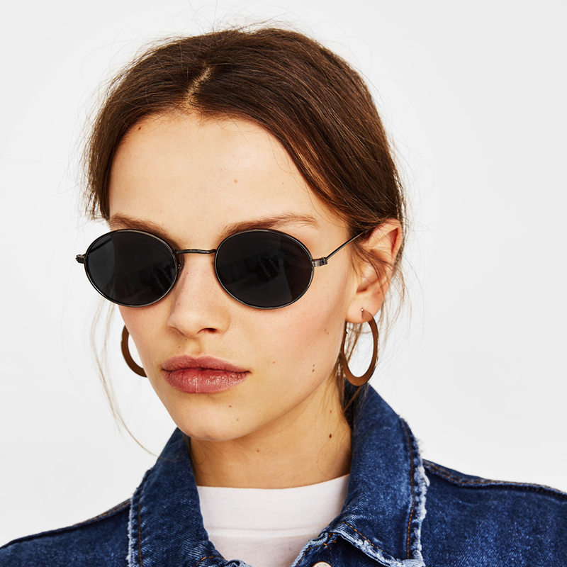 cute sexy retro oval sunglasses women famous brand small pink black 2018 vintage retro sun glasses female  eyewear