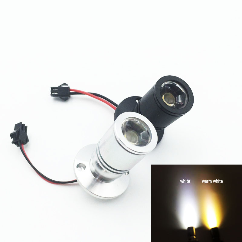 5pcs adjustable-pitch <font><b>1W</b></font> 3W <font><b>LED</b></font> 5V <font><b>12V</b></font> 110V 220V Mini Surface Mounted Light <font><b>led</b></font> downlight Jewelry Cabinet Lamp spot light image