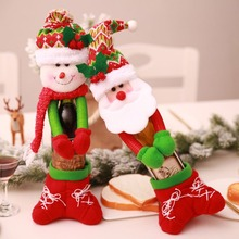 HAPPYXMAS Hot spot Christmas decoration supplies hand wine bottle set champagne