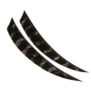 """Image 4 - 50 pçs seta com arco e flecha penas fletches 5 """"natural turquia fleetching palhetas seta da asa direita diy ferramentas caça tiro acessórios"""