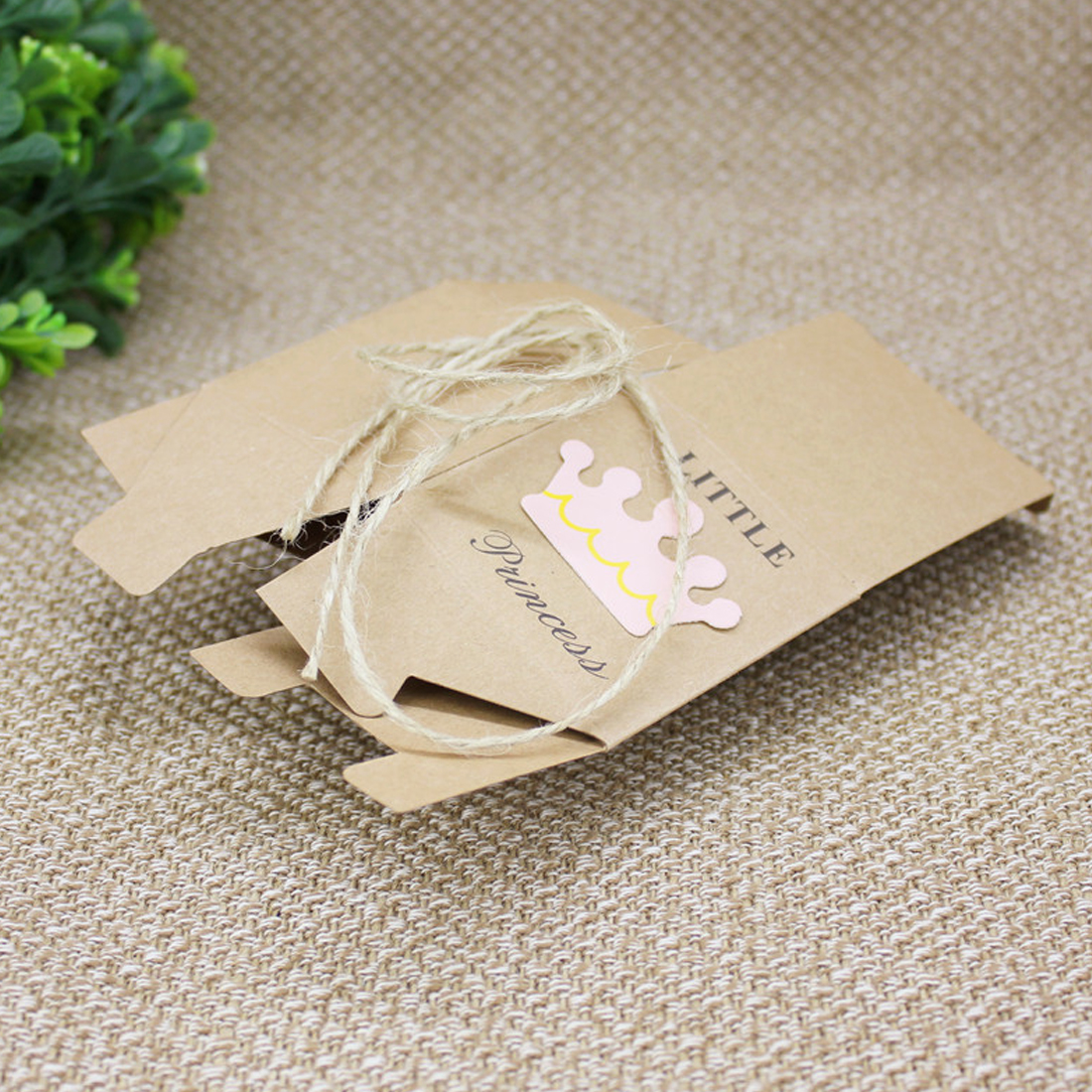 10Pcs Kraft Paper Gift Box Candy Boxes Baby Shower Decorations ...