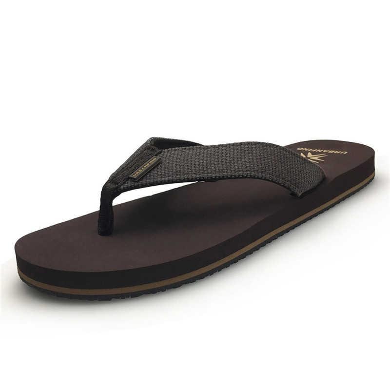 Neue Ankunft Männer Casual Flip-Flops Big Size 41-46 Home/Strand Hausschuhe Mann Sommer Flache Schuhe Schwarz braun