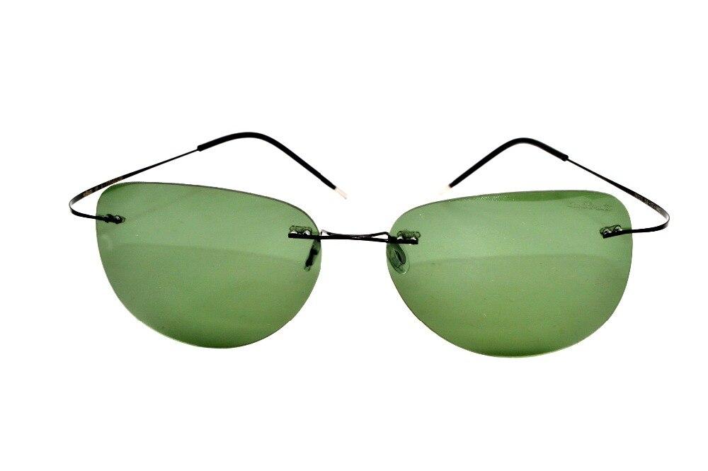 5ac145227a6966 2017 nouvelle conception VÉRITABLE Marque B Titane vert polarisées sans  monture avec le cas lunettes de soleil gafas de sol briller lunettes de  soleil