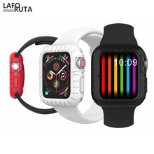 Laforuta Watch Case for Apple 4 Series 44mm 40mm Soft Silicone TPU Cover iWatch Protect Bumper Accessories