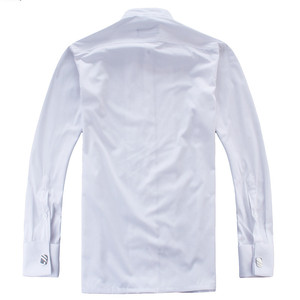 Image 2 - French Cuff Shirts Long Sleeve Casual Luxury Tuxedo Shirt White Black Pink Party Wedding Male Dress Shirt Fashion Men Clothing