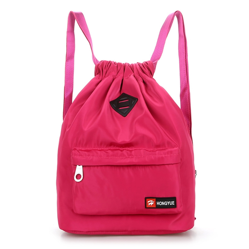 2019 New Nylon Backpack Waterproof Drawstring Sport Bag For Men Women