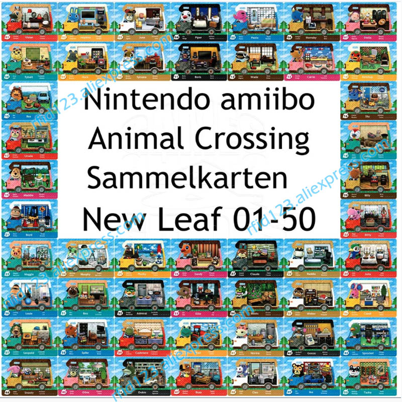 50pcs NFC <font><b>Amiibo</b></font> <font><b>Card</b></font> Work For <font><b>Animal</b></font> <font><b>Crossing</b></font> New Leaf Welcome NFC Printing <font><b>Card</b></font> image