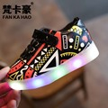 Toddler Boys&Girls Shoes Led Stansmith Trainer with 6 Color Flashing Light-up Anti-slip Chaussure Enfant Sport Shoes Luminous