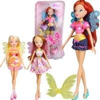 3 סגנונות ילדה צבעונית המועדון ווינ דול פעולת ילדה יפה וינ בובות עם כנף מהודרת דמויות צעצועים קלאסיים בנות מתנה