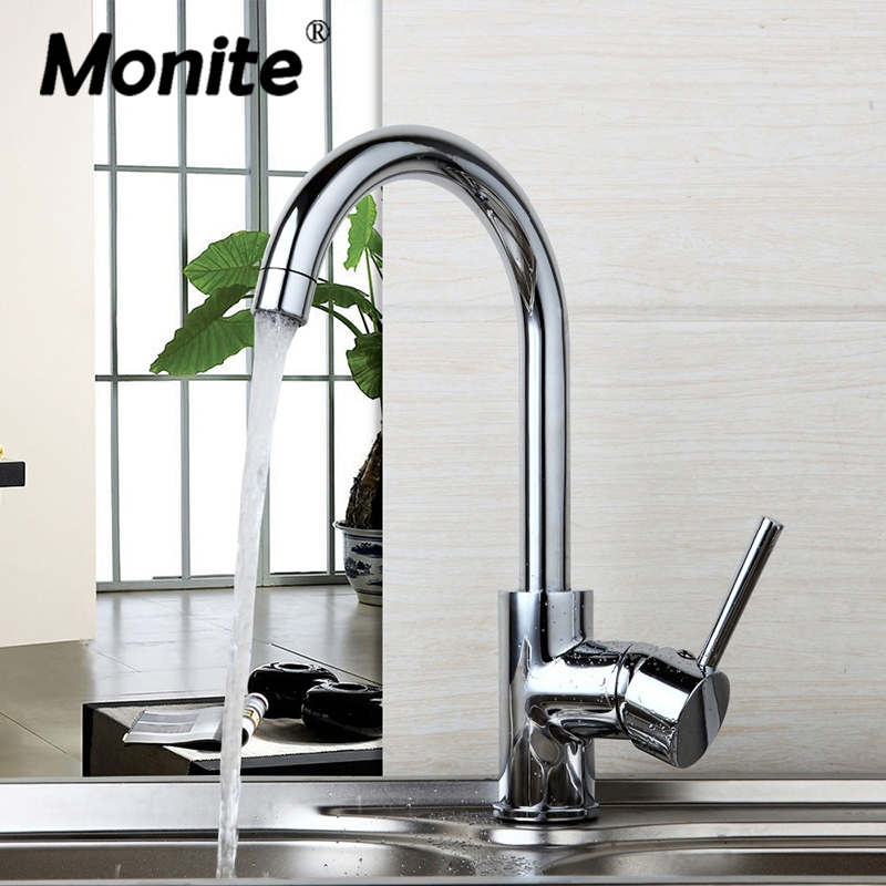Luxury 360 Swivel Hot & Cold Water Mixer Deck Mounted Faucet Chrome Brass Tap Bathroom Basin Sink Faucet Kitchen Sink Taps new design deck mounted bathroom sink faucet hot and cold water bathroom sink faucet chrome
