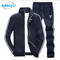 2 PCS 2017 Spring New Fashion Sporting Suit Men Style Long Sleeve Hoodies And Long Pants Causal Male Tracksuit Set 4XL