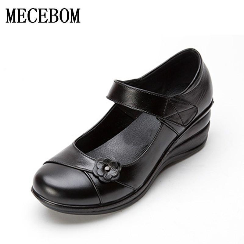 2018 new autumn Handmade leather flat shoes women