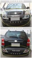 Авто бампера для Hyundai Tucson 2006.2007.2008.2009.2010.2011.2012 Высокое качество ABS гвардии плиты спереди + сзади автомобиля Аксессуары