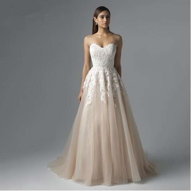 online get cheap french lace wedding dress