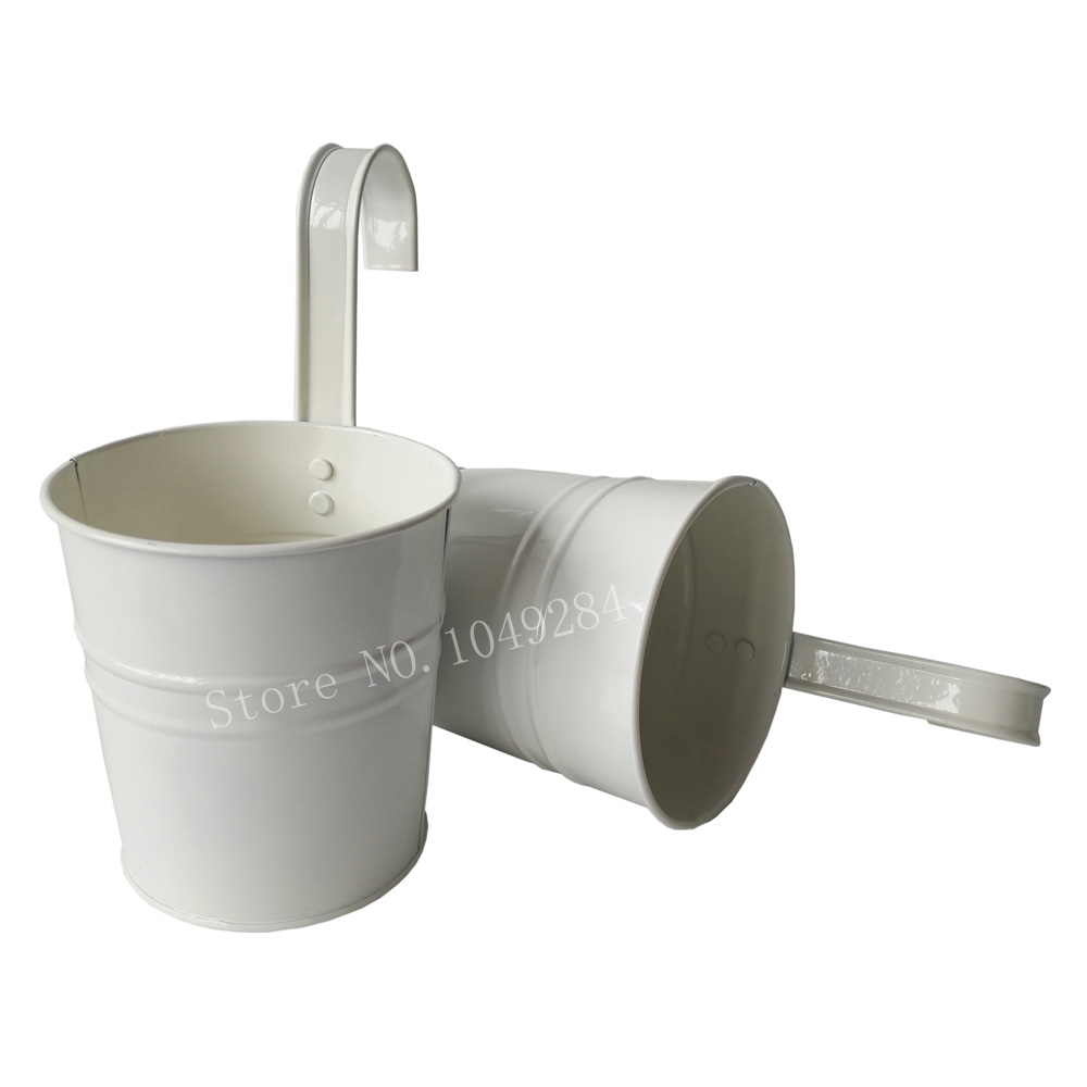 White Color Metal Plant Flower Pot Hook Planter Hanging Buckets wall  hanging planter flowerpots balcony flower tub - Online Get Cheap Hanging Planter Hooks -Aliexpress.com Alibaba Group