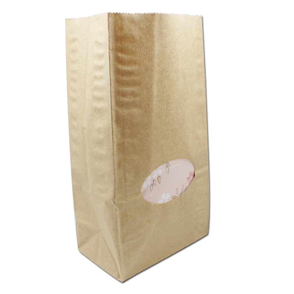DHL 300pcs/lot Brown / White Reusable Boutique Gift Kraft Paper Bags Wedding Candy Jewelry Food Bread Shopping Packaging Bags