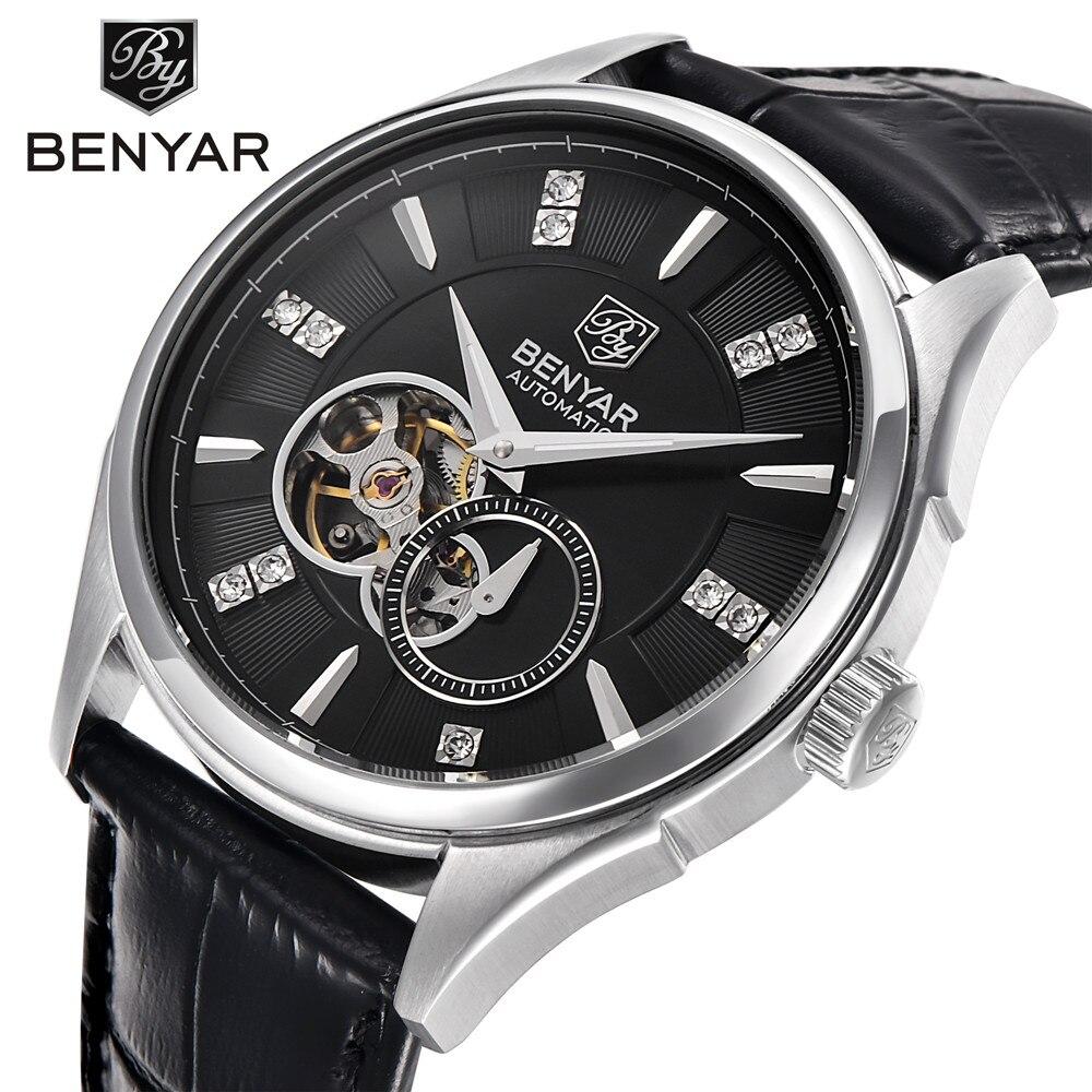 Men s Skeleton Mechanical Watches Fashion Luxury Brand Automatic Self Wind Tourbillon Mechanical Wrist Watch Men