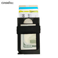 CaseKey Bags Purse Business Men Small Wallet RFID Money Wallet Name Fashion Credit Card Holder Clip Safe Place ID Card Holder