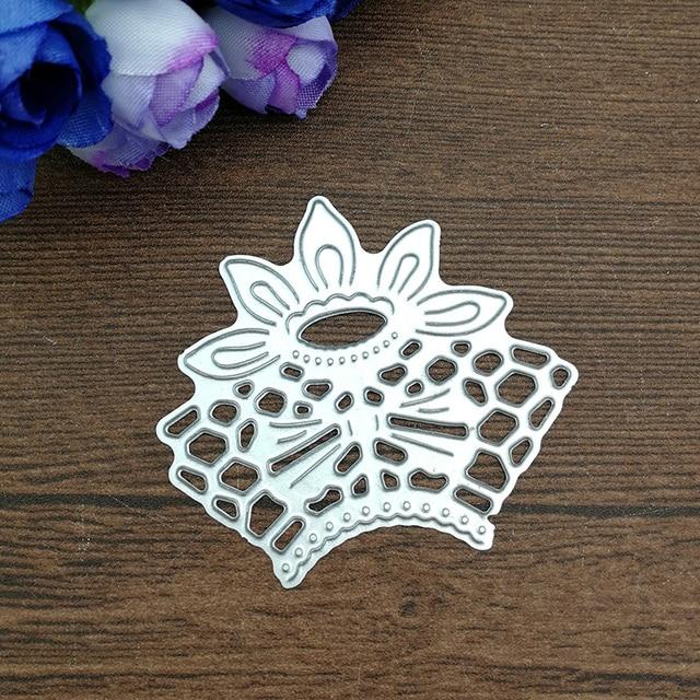 Matrices de découpe en métal coupe coin angle fleur fond Scrapbooking papier artisanat gaufrage couteau lame poinçon découpé pochoirs