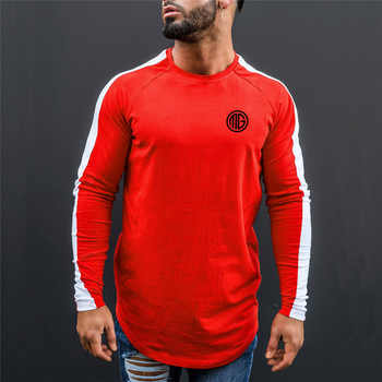 Muscleguys Brand Clothing Cotton Men's Long Sleeve T Shirt Men Slim Fit Tops Tees 2018 Fashion Autumn and Winter Casual T-Shirt - DISCOUNT ITEM  27% OFF All Category