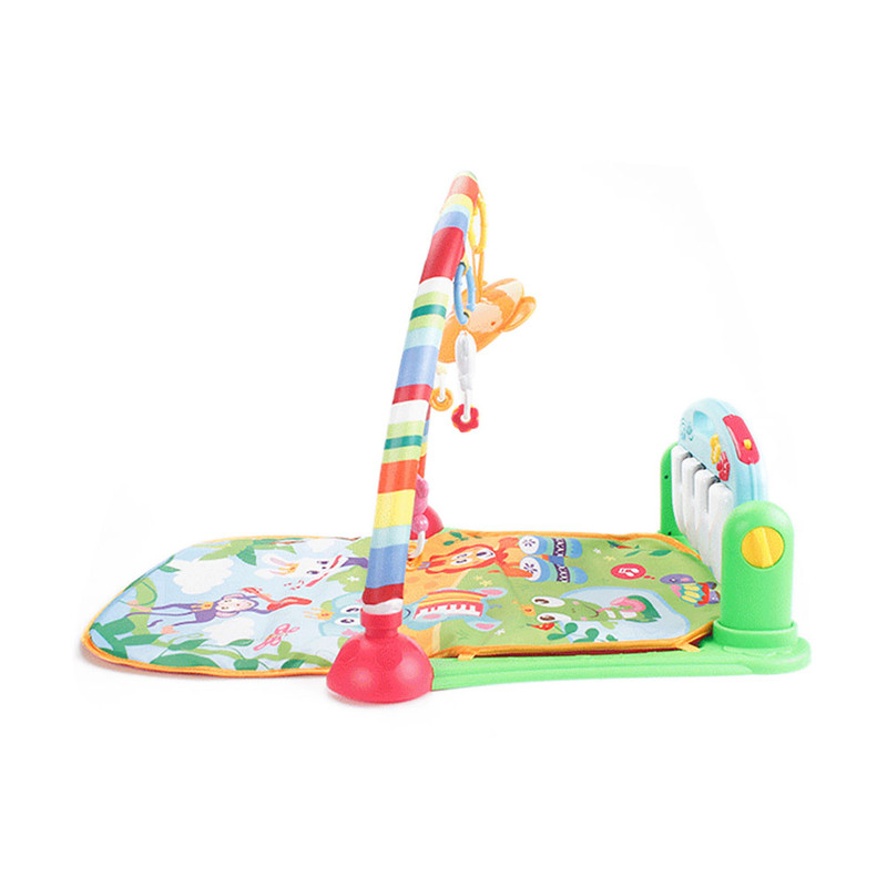3 In 1 Children Fitness Rack Mat Educational Toys Baby Music Play Mat With Piano Keyboard Indoor Baby Carpet Waterproof Play