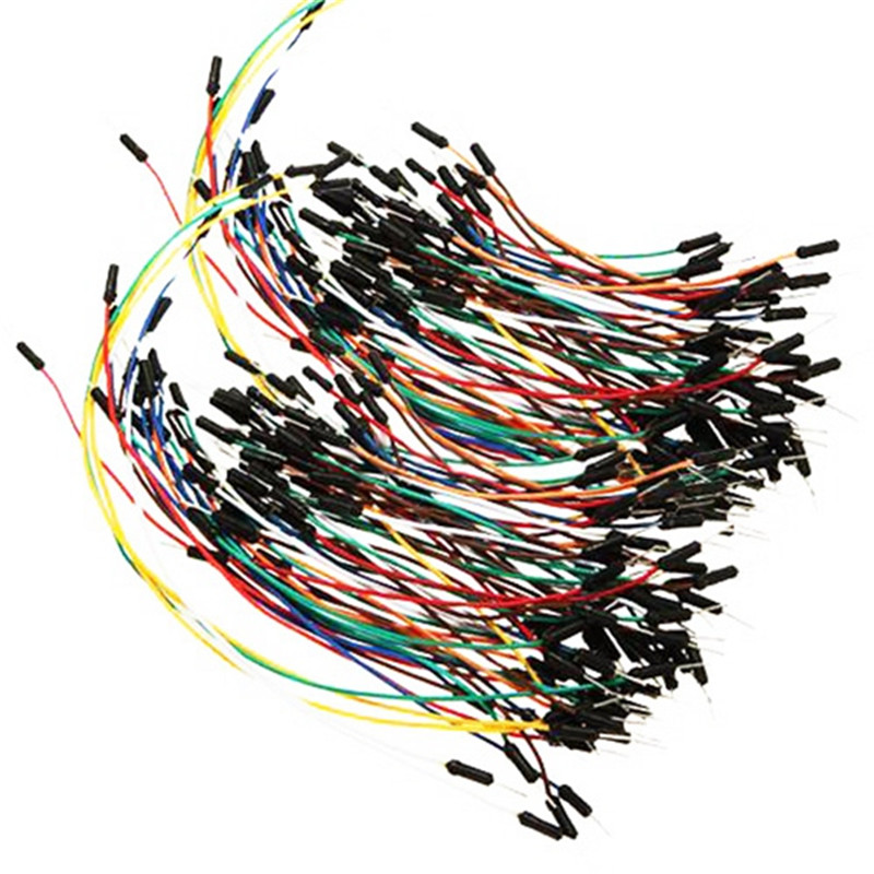 New 65pcs Solderless Breadboard Mixed Color Flexible Cable Wires ...