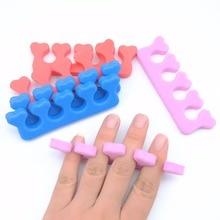 20 Pcs Foam Soft Toe Separator Sponge Finger Spacer Manicure Pedicure Nail Tool Soft Random Color Nail Polish Protector