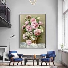 Вышивка крестом наборы 14CT цветок живописная хлопковая нить живопись DIY рукоделие DMC новый год домашний декор VS-0009