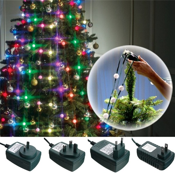 Colorful 64 LED String Light Christmas Tree Fiber Optical Holiday Light Ball Bulb Lamp For Wedding Christmas Decoration new year 100m 500led ball light led string light frost fogging wedding christmas holiday party festival decoration fairy outdoor
