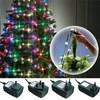 Colorful 64 LED String Light Christmas Tree Fiber Optical Holiday Light Ball Bulb Lamp For Wedding