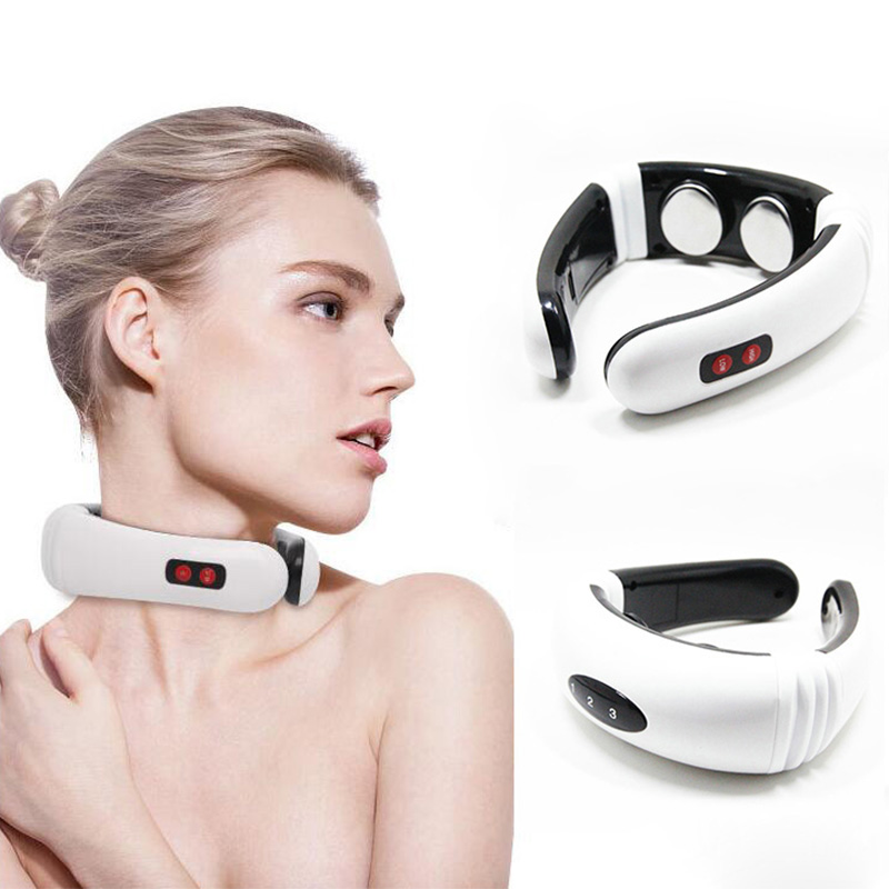 Electric Pulse Back and Neck Massager Far Infrared Heating Pain Relief Tool Health Care RelaxationElectric Pulse Back and Neck Massager Far Infrared Heating Pain Relief Tool Health Care Relaxation