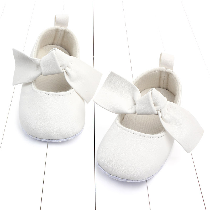 PU Leather Baby First Walkers Shoes Bow Soft Soled Anti-slip Footwear Crib Baby Girl Shoes Infant Toddler Best Gifts for Newborn (6)