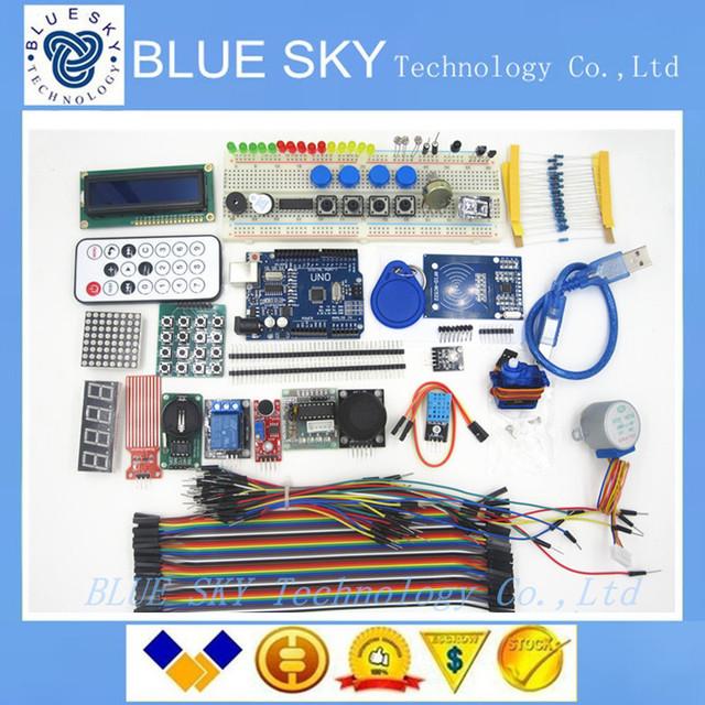 Versão KIT UNO R3 Atualizada do Starter Kit do RFID aprender Suíte LCD 1602 para arduino kit