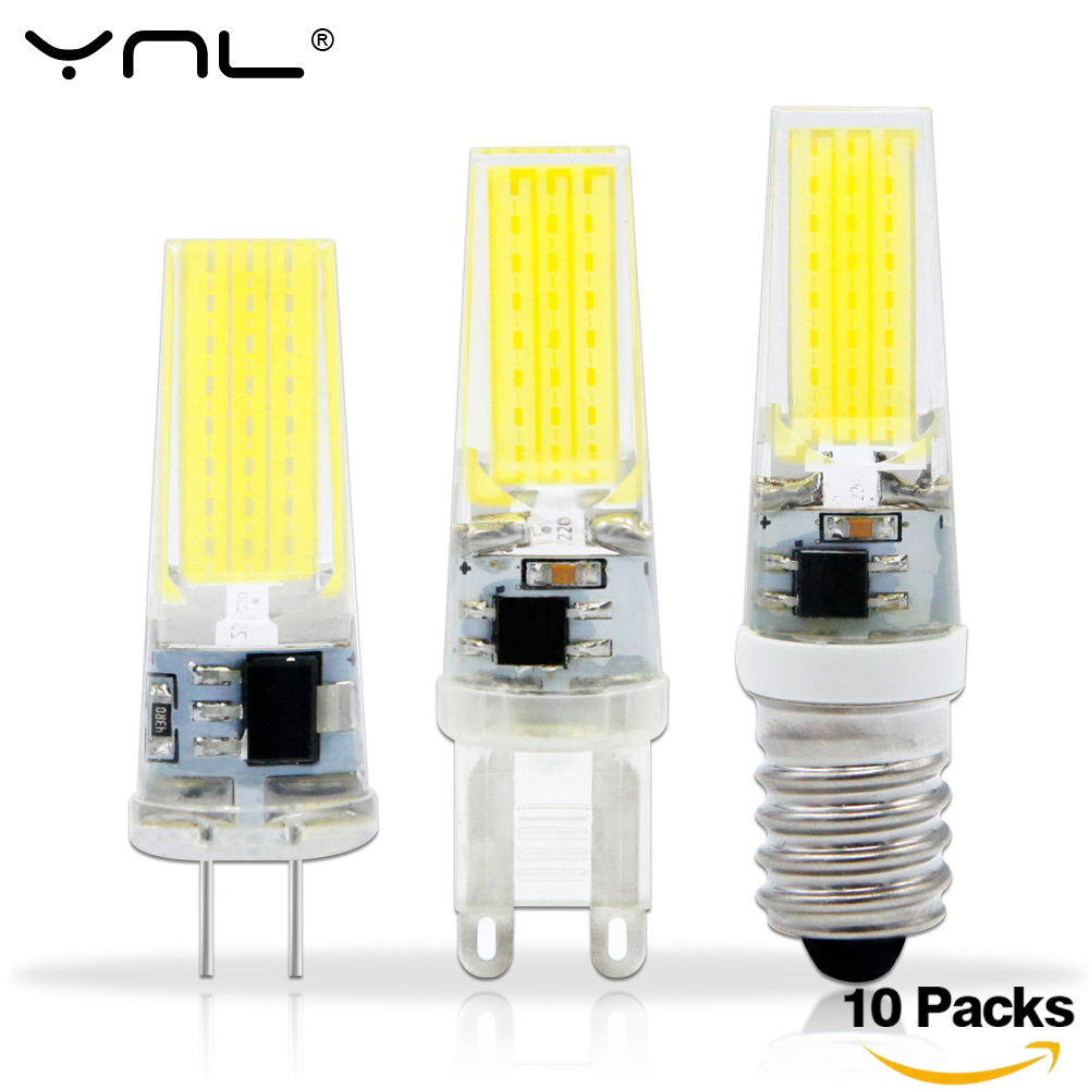 10PCS/Lot Lampada LED G4 Lamp AC/DC 12V 220V COB E14 LED Bulb G9 Lighting Lights replace Halogen Spotlight Chandelier led g4 g9 lamp bulb ac dc dimming 12v 220v 6w 9w cob smd led lighting lights replace halogen spotlight chandelier