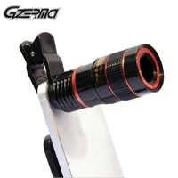 Pince 8X 12X Zoom téléphone portable télescope lentille universel téléobjectif externe Smartphone caméra Len pour iPhone X 8 7 accessoires de téléphone