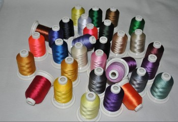 Brand New Simthread 120D/2 63 brother colors 500m/cone polyester embroidery thread & 75D/2 1000m white bobbin thread+10 A bobbin