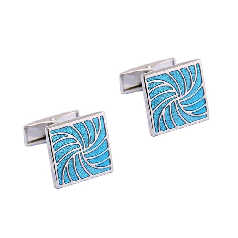 Jewelry & Accessories High Quality Mens Cufflink Silver Plating Blue Crystal Round Mens Shirt Cuff Links Wedding Cuffs 670