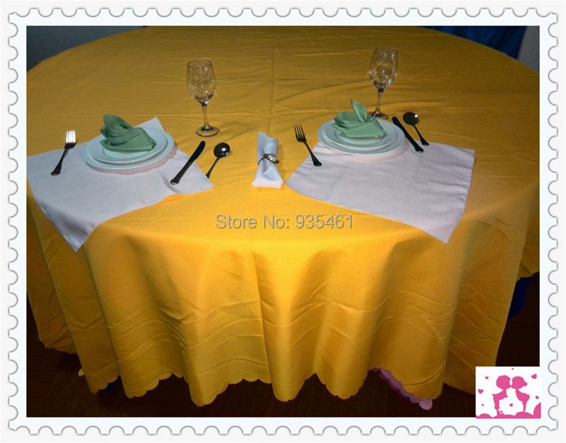 100 Squared Polyester Tablecloth Wedding Receptionrehearsal Linens
