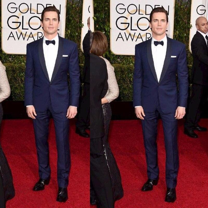 New Terno Smoking Golden Globe Matt Bomer Custom Made Groom Tuxedos Best Man Suit Wedding Groomsman Men Suits (jacket+pants)